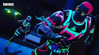 FORTNITE - NITELITE SKIN GAMEPLAY!!! (Neon Glow Set)