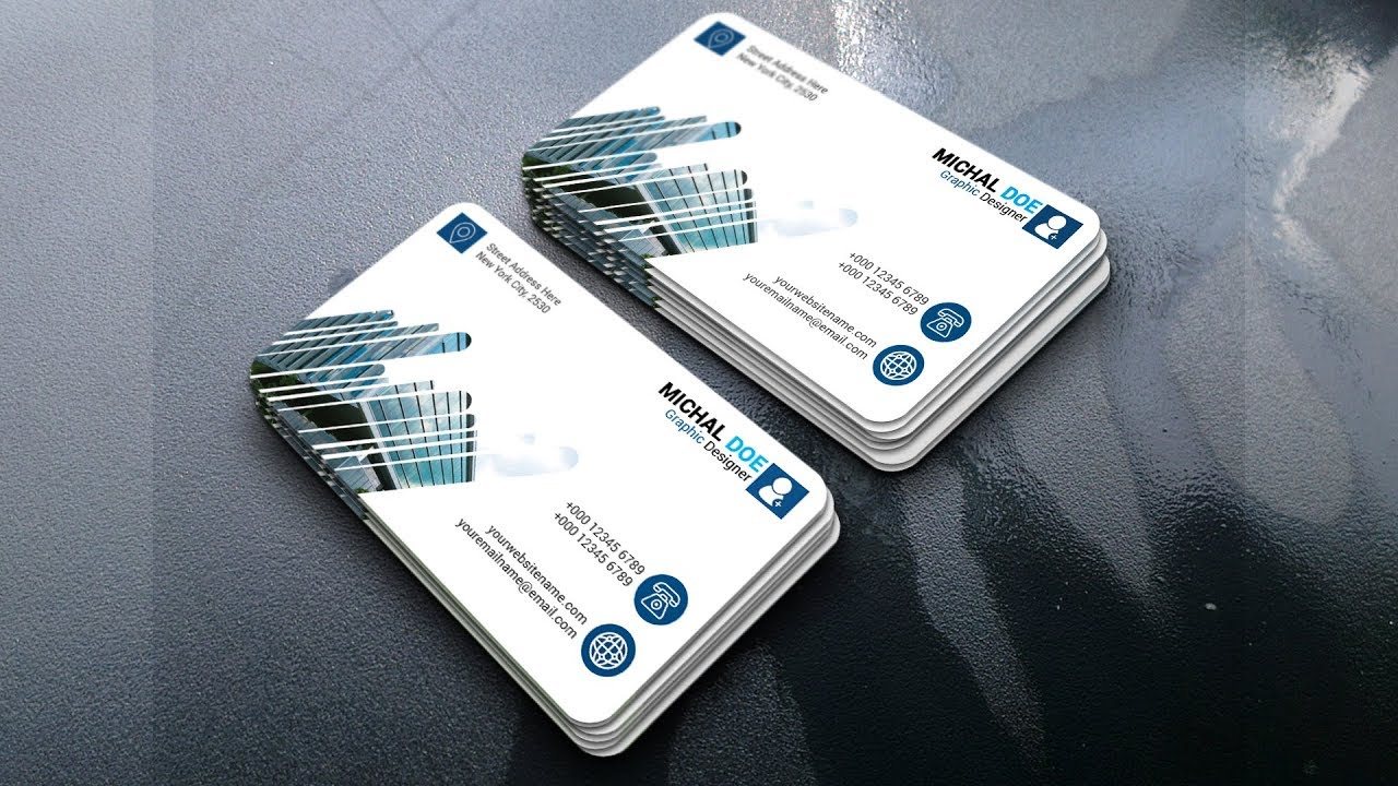 Business card design in Photoshop   How to make a Business Card in Photoshop