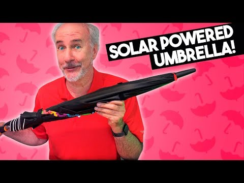 Solar Powered Umbrella with Built-in Fan!