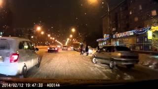 Видеорегистратор Supra SCR-537M - ночная съёмка