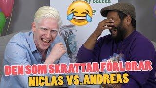Den som skrattar förlorar #13 – Torra skämt och ordvitsar med Niclas och Andreas