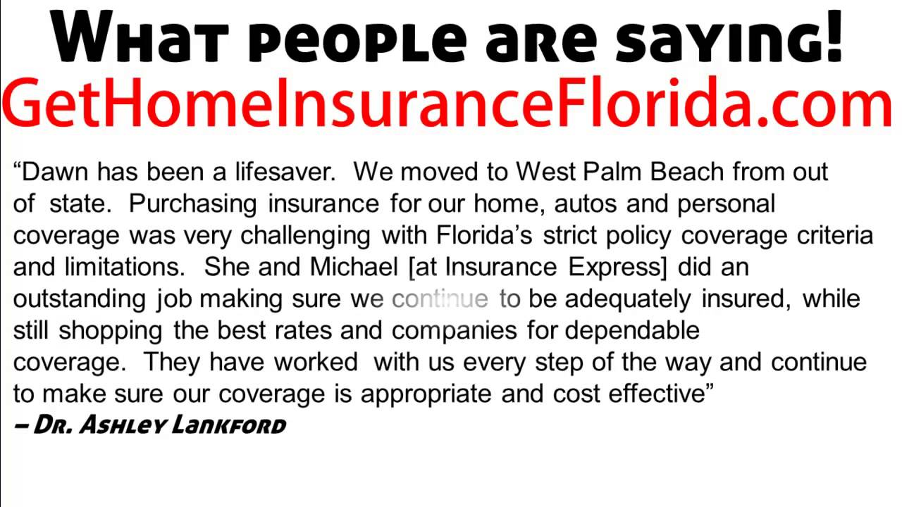 Home Insurance Florida >> Florida Home Insurance Best Rates On Florida Home Insurance Video
