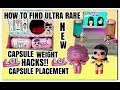 LOL SURPRISE UNDER WRAPS HOW TO FIND GOLD BALL ULTRA RARE FOUND PLACEMENT AND WEIGHT HACKS SERIES 4