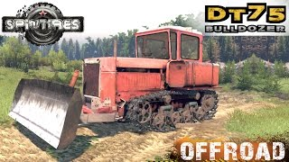 SpinTires DT 75 Bulldozer Crawler Tractor Off-road Test