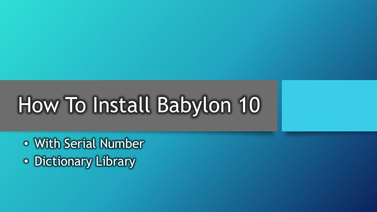 babylon 10 license key free download