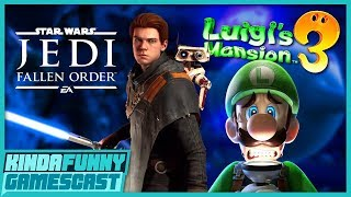 We Played Star Wars Jedi: Fallen Order and Luigi's Mansion 3! - Kinda Funny Gamescast Ep. 243
