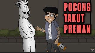Pocong Takut Preman | Animasi Horor Kartun Lucu | Warganet Life