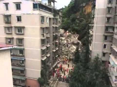 Nine-story apartment block collapses in Guiyang, China
