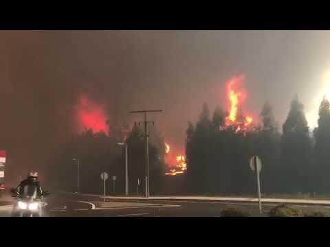Arde Galicia! Impresionante video del incendio en As Neves octubre 2017
