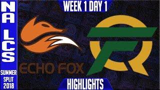 Video FOX vs FLY Highlights | NA LCS Summer 2018 Week 1 Day 1 |  Echo FOX vs FlyQuest download MP3, 3GP, MP4, WEBM, AVI, FLV Juni 2018