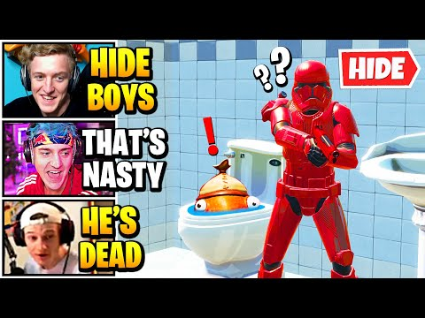 Streamers Host *SMARTEST* 100 PLAYER Hide And Seek   Fortnite Daily Funny Moments Ep.559