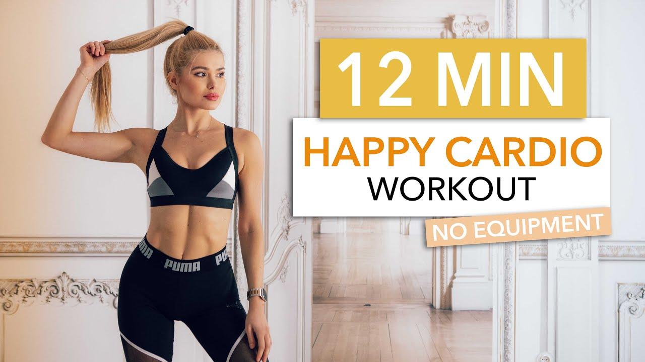 Download 12 MIN HAPPY CARDIO - a good mood High Intensity Choreo / No Equipment I Pamela Reif