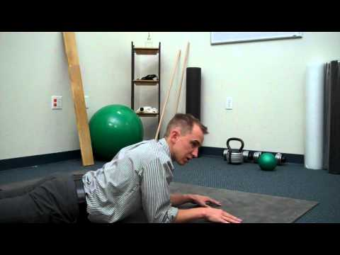 Sphinx Exercise With Chin Tuck For Neck Pain