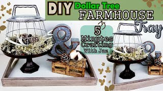 5 MINUTES CRAFTING No. 13 | DOLLAR TREE FARMHOUSE TRAY DIY