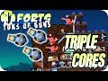 Triple Core Cannon Assault Forts Multiplayer Gameplay