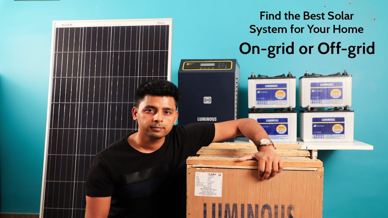 Luminous 3 kW solar system with battery, panel and inverter - Unboxing,  India - 2018