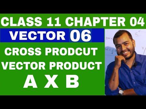 Class 11 Chapter 4  : VECTOR 06 VECTOR PRODUCT    CROSS PRODUCT OF VECTORS    IIT JEE / NEET VECTORS