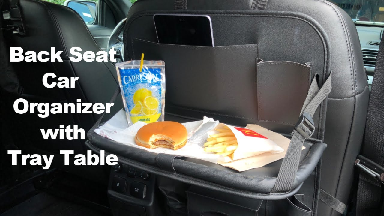 Back Seat Car Organizer With Tray Table Review Youtube