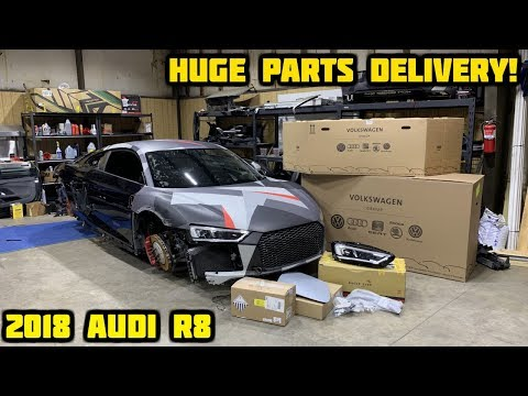 Rebuilding a Wrecked 2018 Audi R8 Part 5