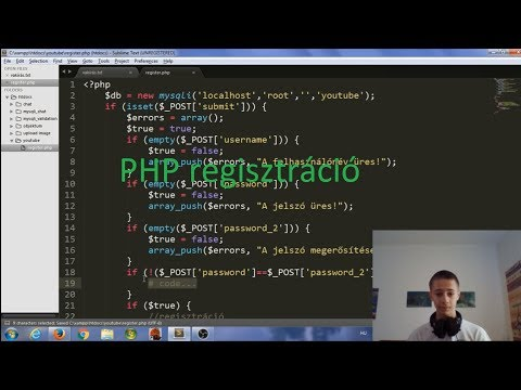 PHP Regisztráció, Bejelentkezés #1 [Tutorial]