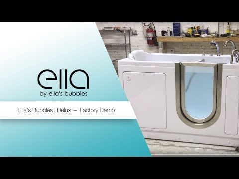 Ella Deluxe Acrylic Walk In Bathtub with Heated Seat & Infusion™ MicroBubble Therapy