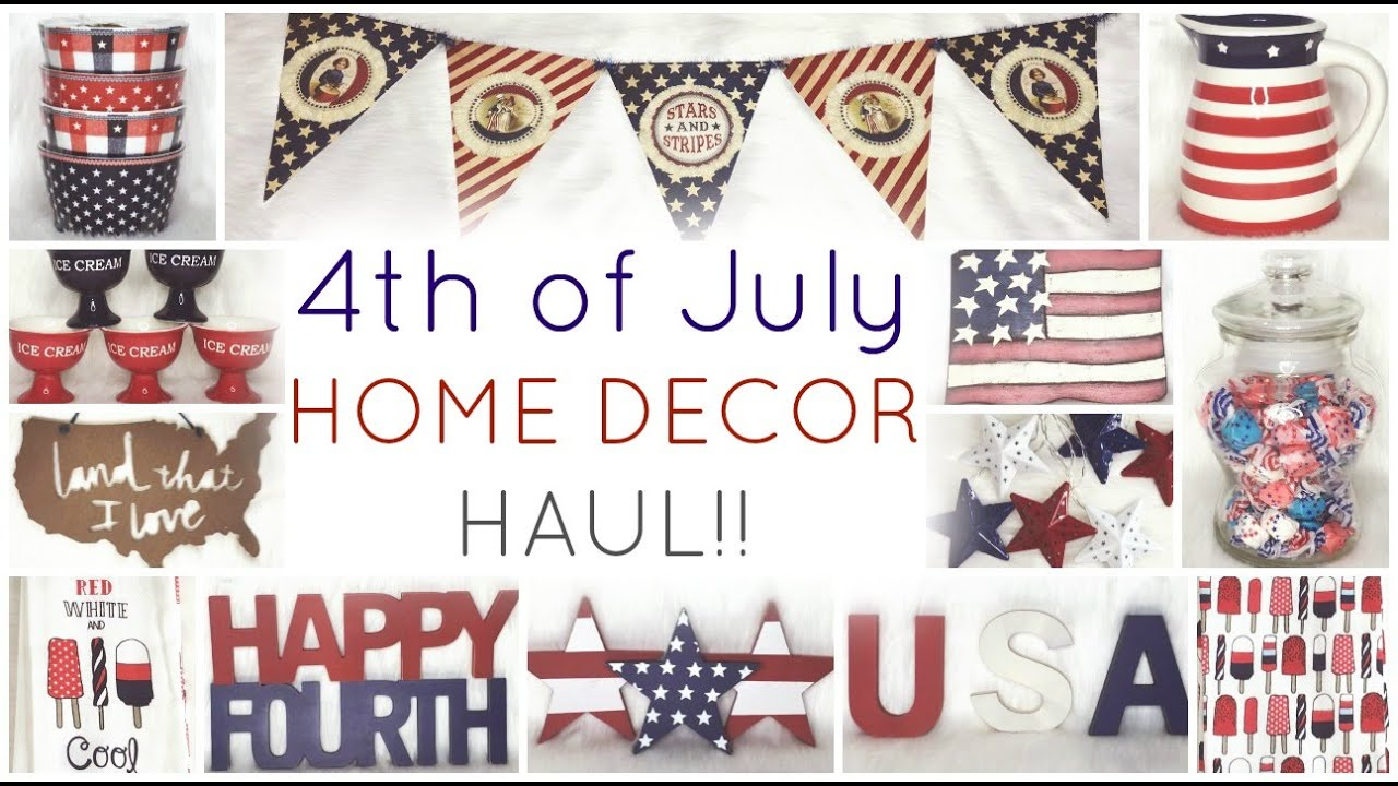 4th Of July Home Decor Haul 2016 ♡ HomeGoods, Target Dollar Spot, TJ Maxx,  Marshalls, Rodworks,   YouTube
