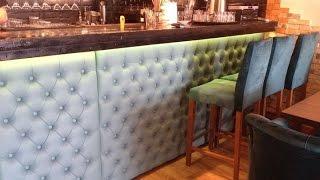 Барная стойка с каретной стяжкой для ресторана(Производство стеновых панелей для барных стоек по индивидуальному проекту с каретной стяжкой. http://krovat.kiev.ua/..., 2016-04-05T12:19:19.000Z)