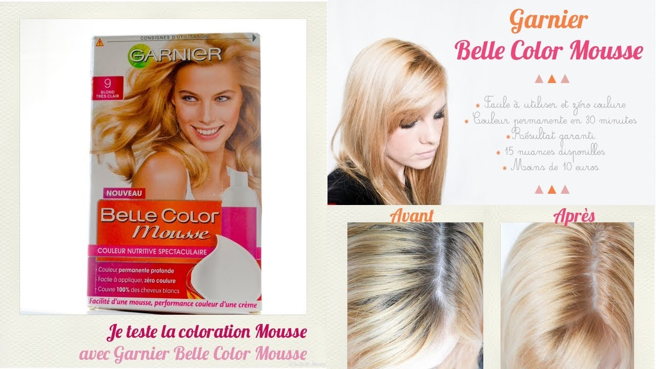 test nouvelle couleur belle color mousse de garnier blond trs clair youtube - Coloration Meche Blonde