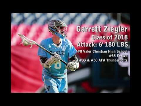 Garrett Ziegler Valor Christian High School Lacrosse Attack Class of 2018