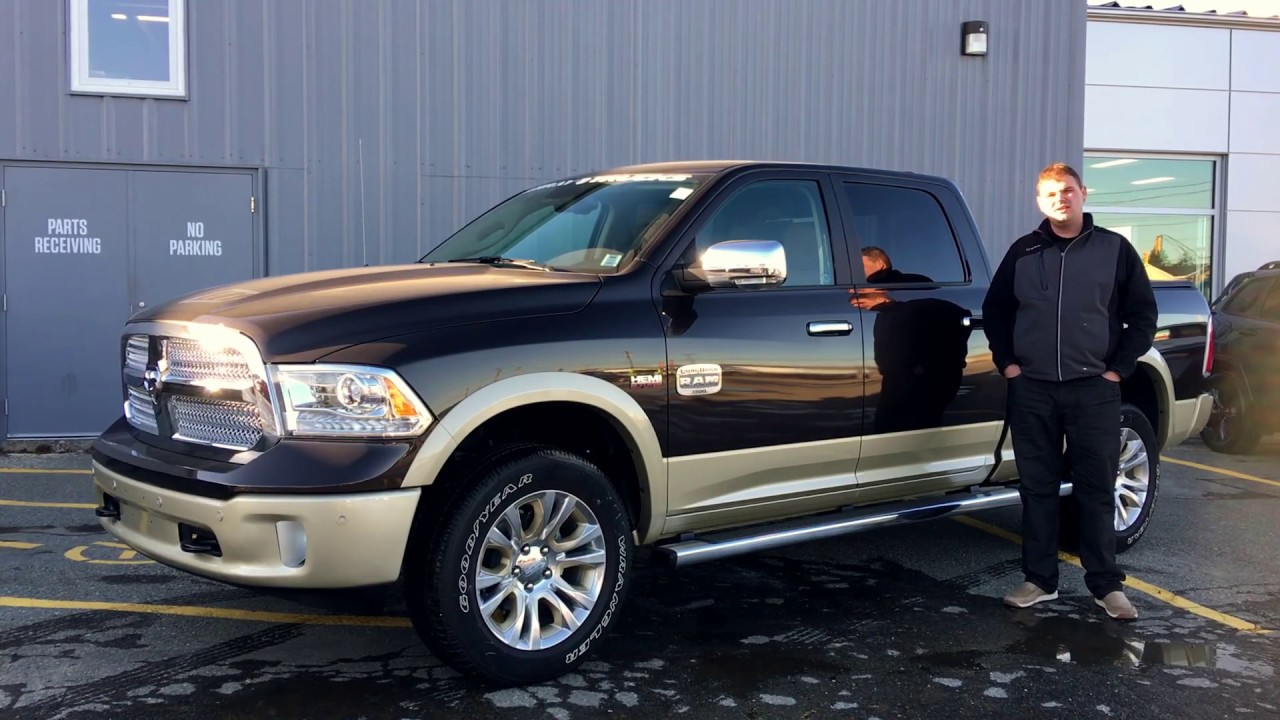 2017 ram 1500 laramie longhorn luxury brown pearlcoat murray dodge yarmouth youtube. Black Bedroom Furniture Sets. Home Design Ideas