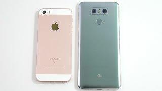 iPhone SE vs LG G6