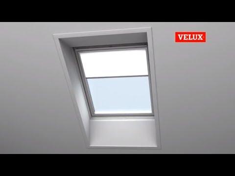 einbau sichtschutzrollo rfl f r velux dachfenster youtube. Black Bedroom Furniture Sets. Home Design Ideas