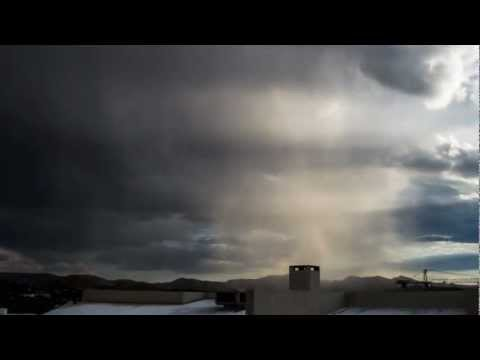 Small rain over Windhoek