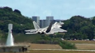 [嘉手納基地] F-22 RAPTOR takeoff USAF Kadena AB 2nd mission