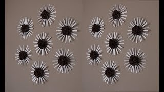 DIY: Flower Wall Decor made out of Upcycled Pringles Can and Egg Cartons