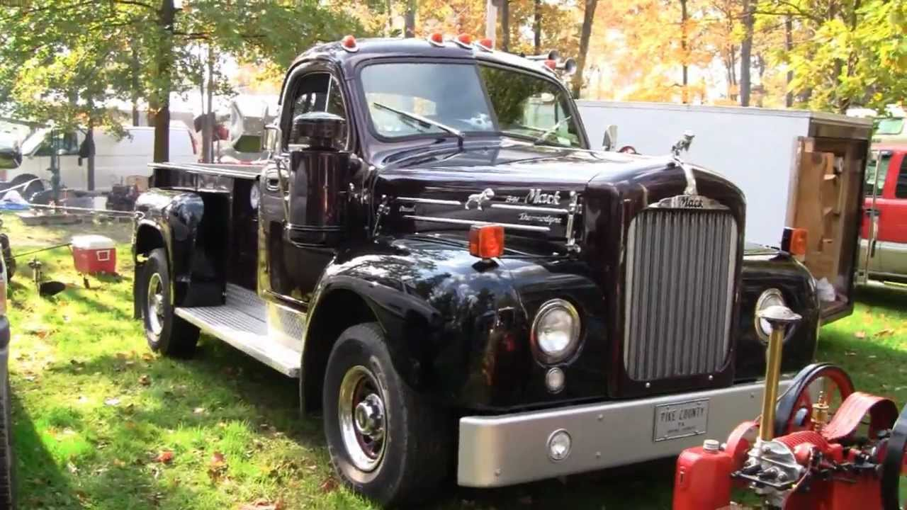 ANTIQUE B-61 MACK PICK-UP TRUCK (CUSTOM BUILT) - YouTube