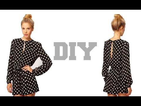 DIY Long Sleeves Jumpsuit Shorts( Easy Sewing) - YouTube