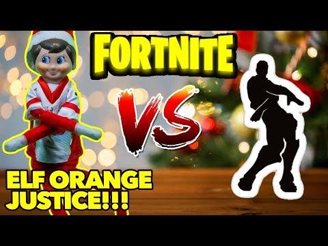 Elf on the Shelf Does Fortnite Dances: Fortnite Orange Justice Dance