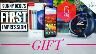 Mi A2 Lite/REDMI 6 Pro Review,First Impression,Giveaway,Rapid Overview,How Sunny Deol Do Unboxing