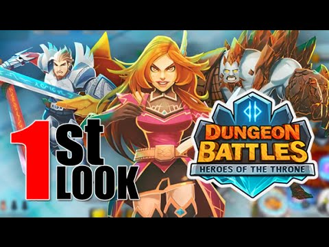 Dungeon Battles : Heroes of the Throne - 1st Look Gameplay (NEW iOS Strategy Game)