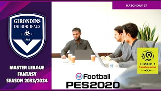 Football 2020 | Master League Fantasy Season 2033/2034 | Bordeaux vs Metz | HD