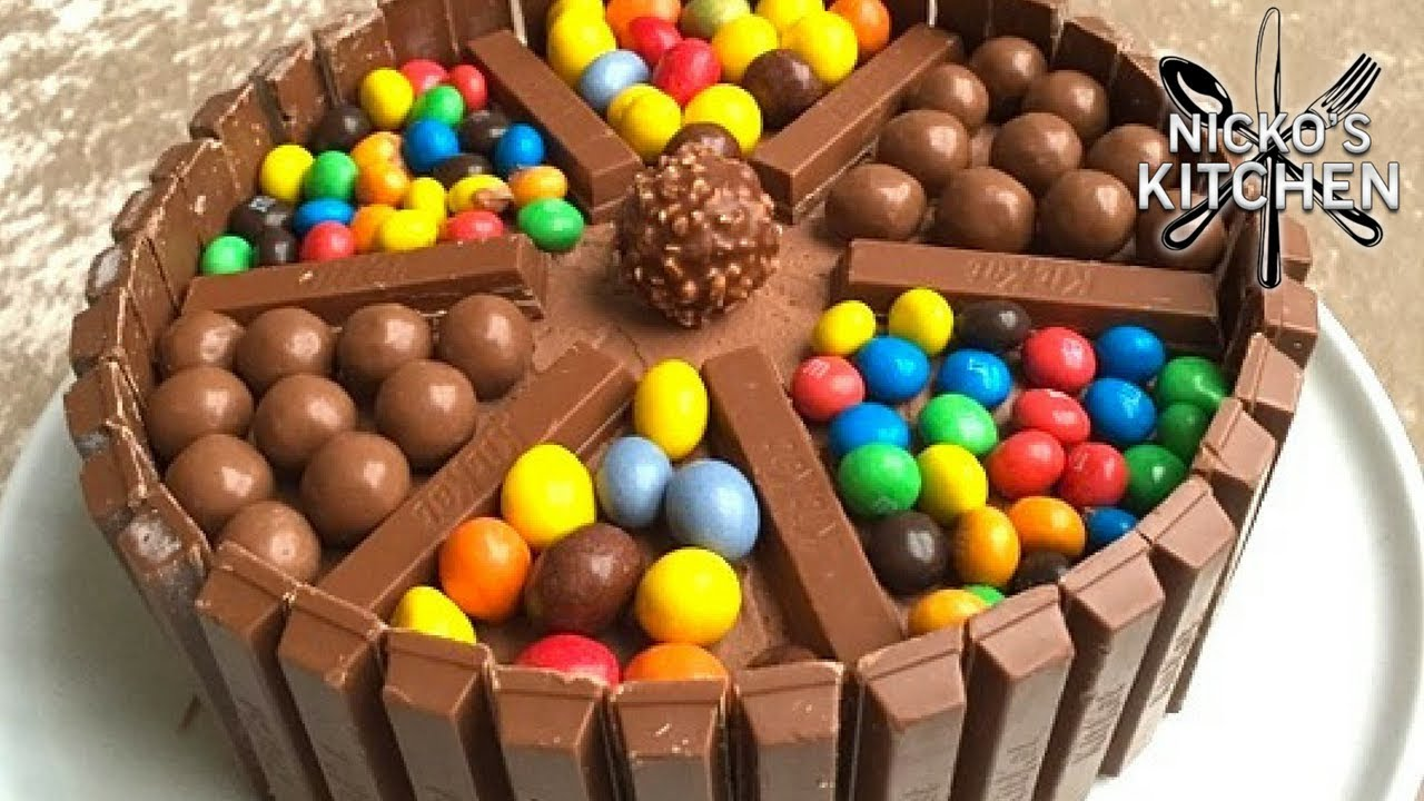Chocolate Candy Cake - YouTube