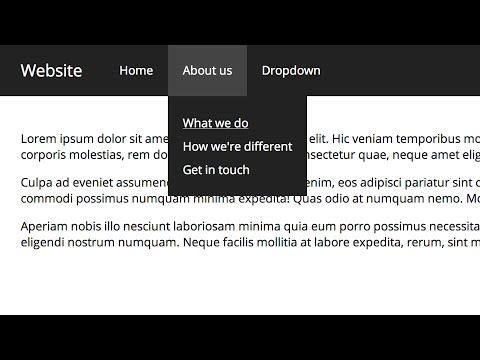 Pure CSS Dropdown Navigation Bar (Improved)