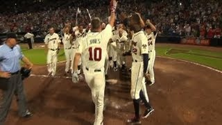 Braves show highlights from Chipper's career