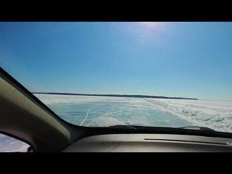 Madeline Island Ice Road (from Bayfield to LaPointe, WI) 3-14-2018