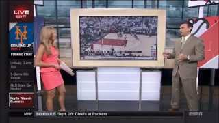 Sara Walsh Short, Pink Dress (ESPN)