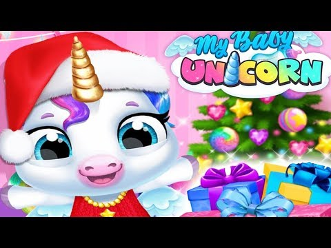 Fun New Born Baby Pony Care Kids Game - My Baby Unicorn - Play Christmas Animal Dress Up Makeover