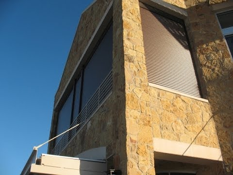 Dallas Storm Shutters For Balcony Patio Motorized Wind Rain Cold Protection