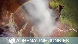 Brave Skydiver Jumps From World's Tallest Waterfall