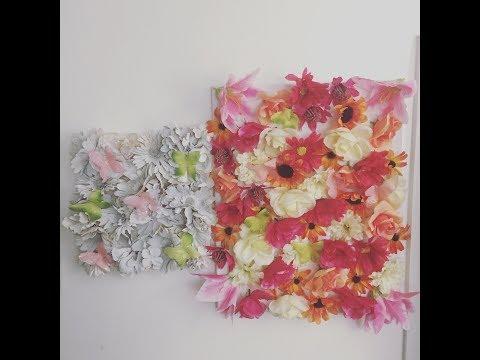 DIY 3d flower wall art/two variations